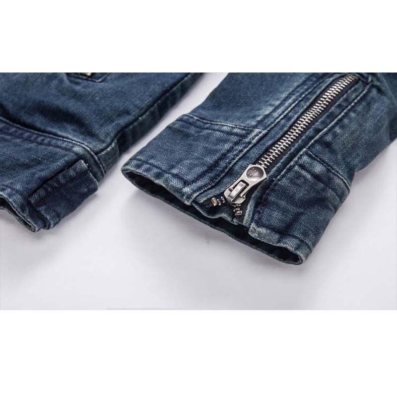 Осенняя джинсовая куртка с капюшоном, Мужская модная джинсовая куртка, Повседневная тонкая Ретро винтажная Хлопковая мужская брендовая одежда - 6