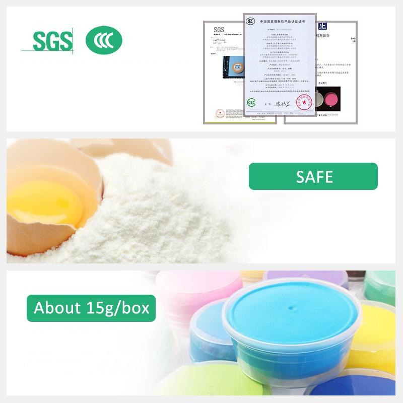 12 Pcs Colored Clay Polymer Plasticine Modelling Clay Air Dry Playdough Light DIY Soft Creative Handgum Toys Hot Sale
