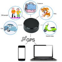 Black Mini Tracker Anti theft Car Vehicle Tracker Google Link Real Time Tracking Devices For Pets GPS Tracker Children Locator