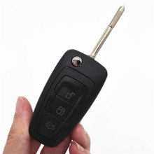 3Buttons 433MHZ 4D60 Chip Modified Folding Flip Keyless Entry Remote Key Fob Case for Ford Mondeo with F021 Blade & Logo