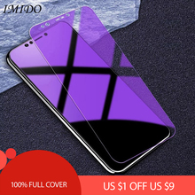 IMIDO Full Coverage Anti Blue Tempered Glass for Huawei Y9 2018 Y7 Prime Y6 Y5 2017 Anti Blue-ray Screen Protector Film цена и фото