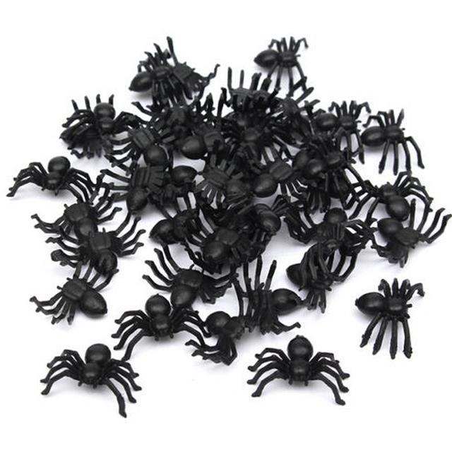 50 piezas de Araña de Plástico para Halloween