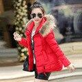 Mulheres Jaqueta de inverno Casacos Jaquetas Parka Canadá Ucrânia Mulher Manteau Femme Feminino 2016 Casaco de Gola de Pele Com Capuz Para Baixo Roupas 3XL