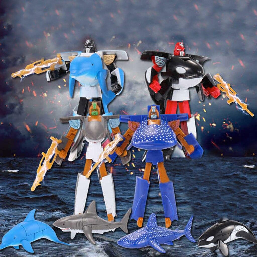HIINST Transformer-Robot Anime Figurine Shark Baby-Girls Automatic Mini Children Boys