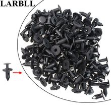LARBLL 100Pack/lot Nylon Bumper Fastener Rivet Clips Automotive Furniture Assembly Expansion Screws Kit Auto Body 8mm