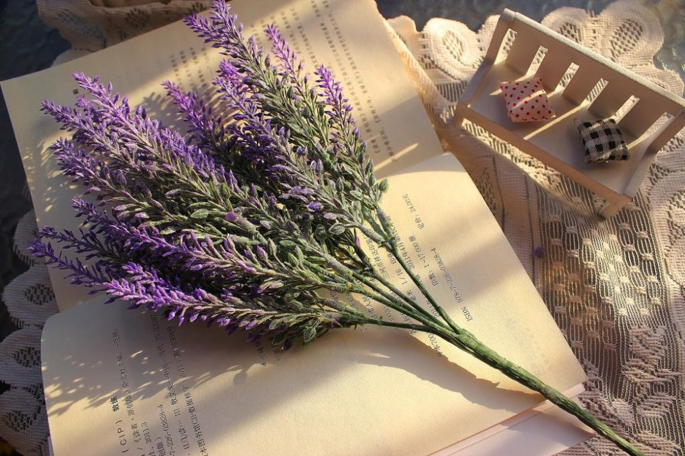 10 piece/lot) 30 lavender heads Artificial Lavender plastic flower ...