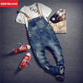 Men's Jeans Slim Straight Jeans Mens Jeans With SuspenPants Male Slim Denim Distressed Jeans Ripped Bib Overalls for Mens 260