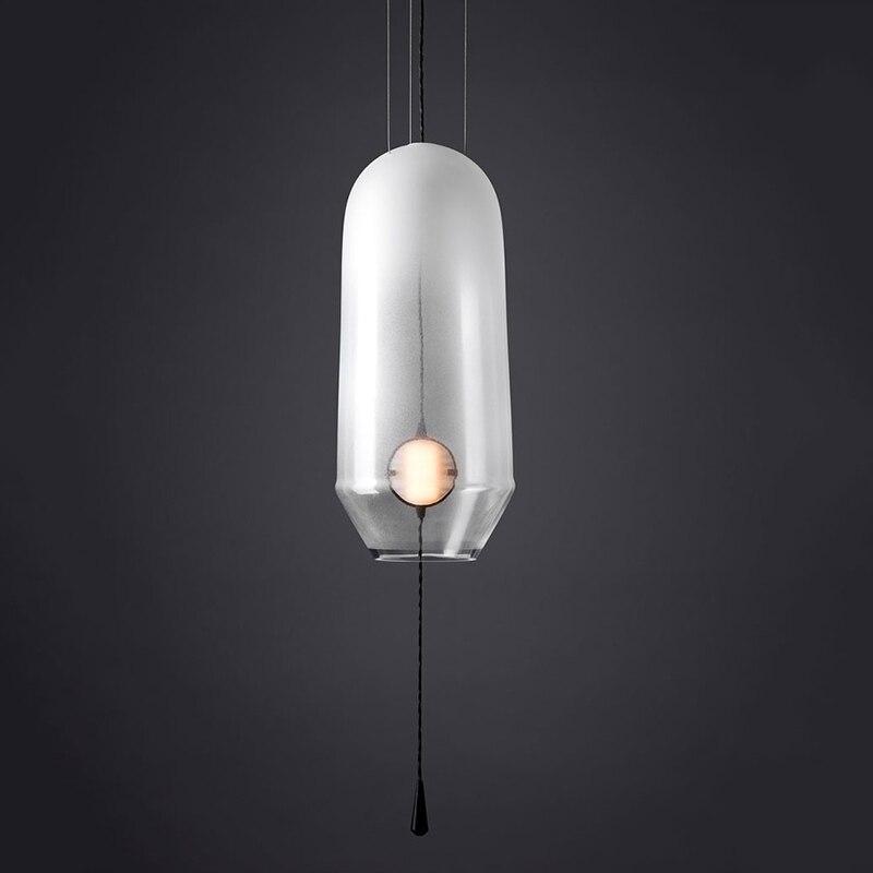 American Glass Ball Pendant Lights Iron Hoop Pendant Lamps Hang Lamp Bedroom Cafe Restaurant Bar Indoor Lighting Fixtures Decor in Pendant Lights from Lights Lighting