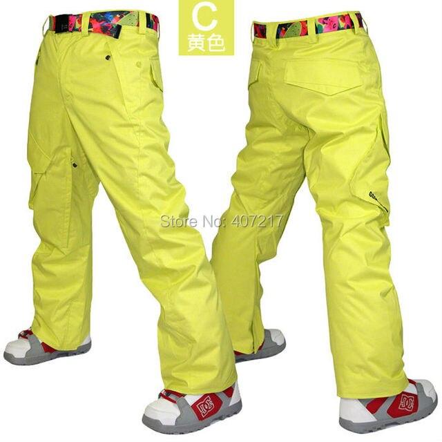 2017 mens yellow skiing pants blue ski snowboarding pants for men gray snow  pants orange waterproof 10K windproof free ship ddc5ff15f