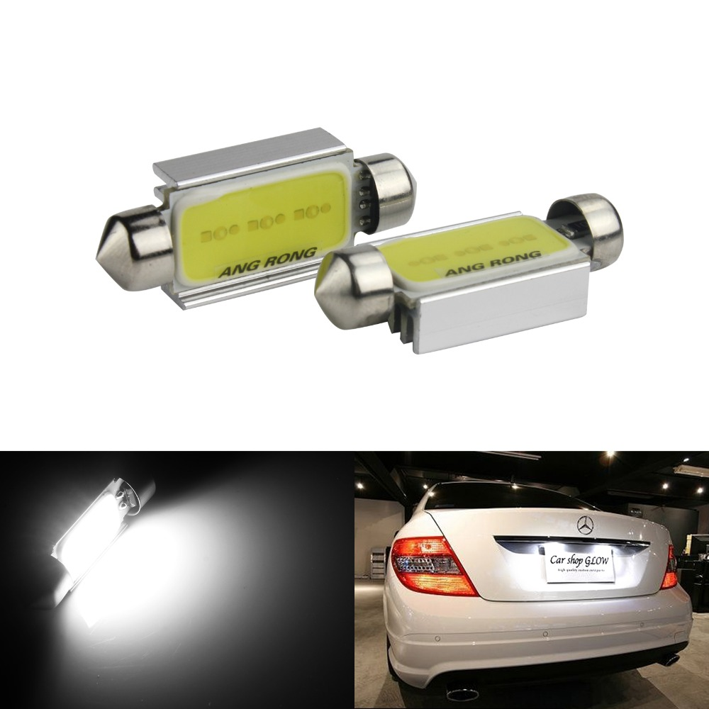 2x Mercedes Benz High Power C5W 239 272 Canbus LED License Number Plate Lights