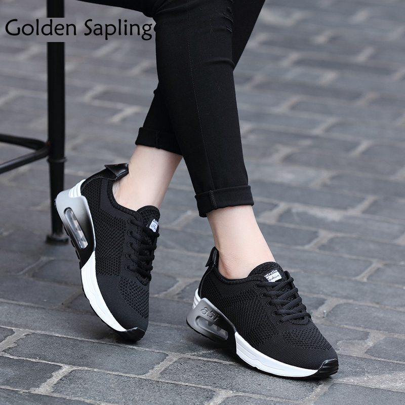 Golden Sapling Women's Sneakers Breathable Air Mesh Running Shoes Women's Winter Air Cushion Womens Sneakers Rubber Sport Shoes kelme 2016 new children sport running shoes football boots synthetic leather broken nail kids skid wearable shoes breathable 49