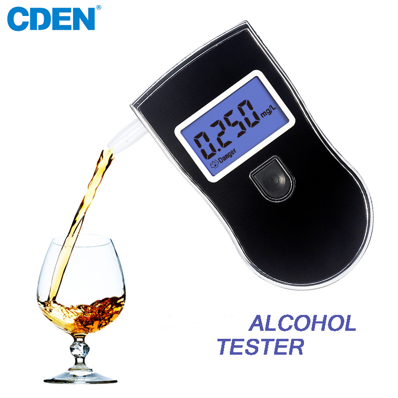 CDEN Alcohol Tester Professional Digital Breath Alcohol Detector LCD Display Portable Breathalyzer Detector for Safety Driving