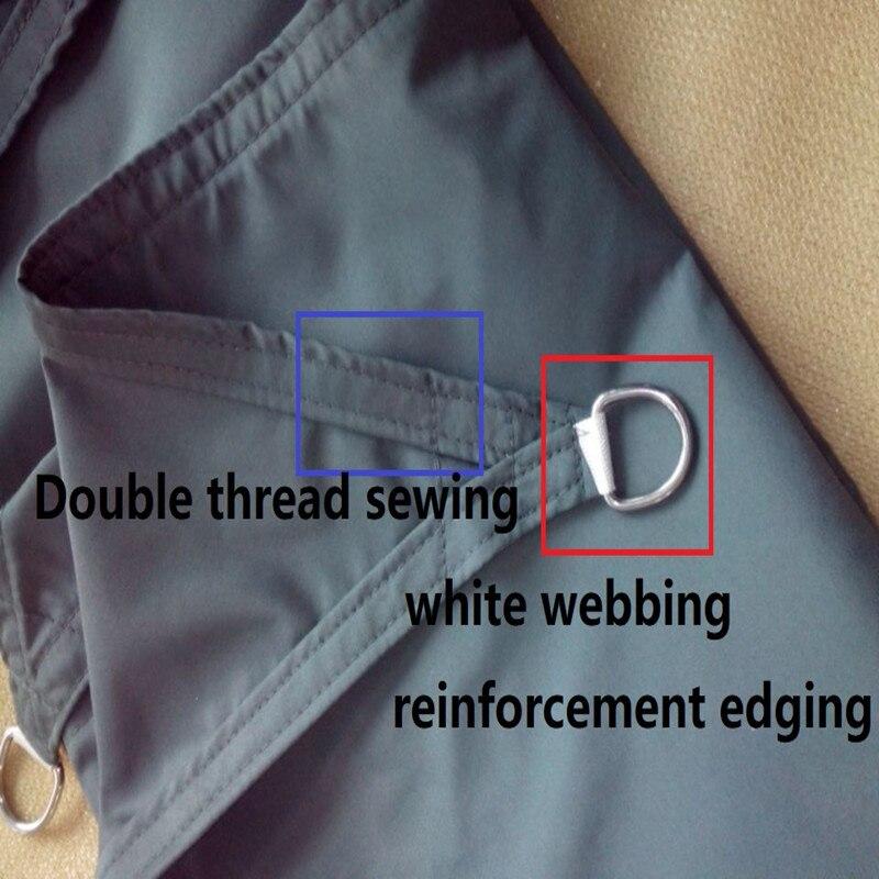 4x6 M/PCS PU Waterdichte stof Zon Shade Sail gebruikt als tuin netto polyester shades luifel-in Zonnezeil & netten van Huis & Tuin op  Groep 2