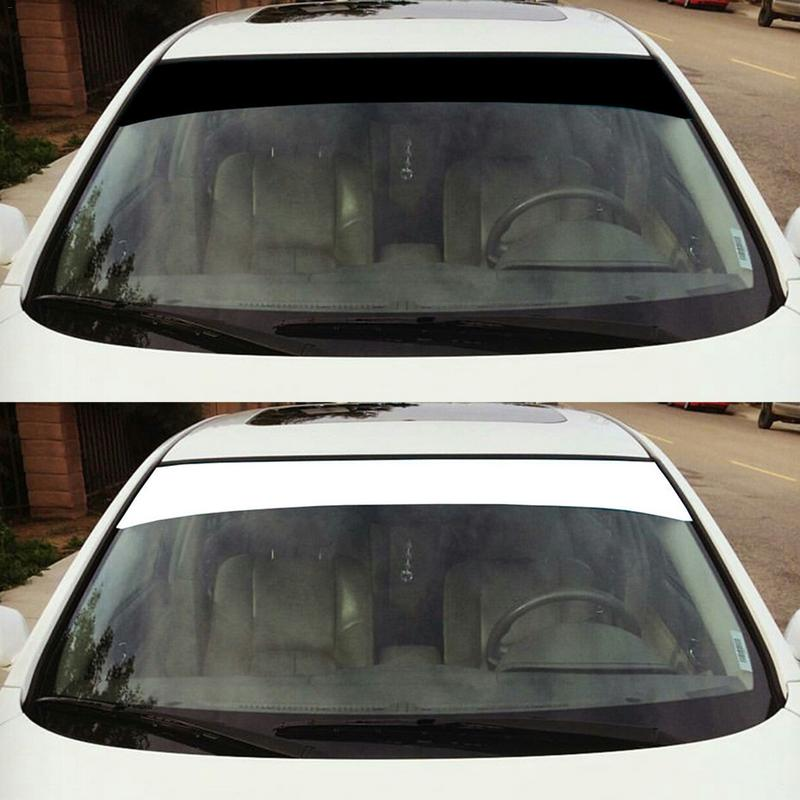 Car Stickers Vinyl Windshield Banner Strip Racing Stripe Sticker Sun Visor Decorative Stickers Sunscreen Sticker Blank