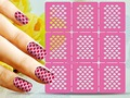 1sheet Reusable Templates DIY Nail Art Stamping Tool Hollow Template Stickers Manicure Tools