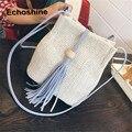 hot sale The New Fringed Shoulder Bag Woven Straw  Handbag WOMEN  Messenger Bag Tote Ladies Purse Clutch gift wholesale