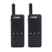 2 Stücke Kleinste und Leichteste Mode Mini Walkie Talkie 16CH 2 Watt UHF 430-470 Mhz PMR446 Zwei-wege RadioFM Transceiver Mini Radio
