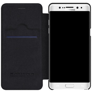 Image 3 - Samsung Galaxy Not Note FE için (Fan Baskı) durumda Nillkin Qin Vintage Deri Kart Kapak Çevirin Samsung Not FE Telefonu Çanta