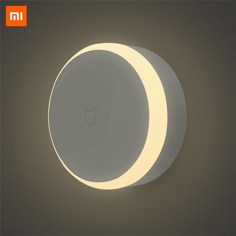 Original Xiao mi JIA LED pasillo luz de la noche de Control remoto por infrarrojos Sensor de movimiento del cuerpo de casa inteligente lámpara de noche mi yeelight bombilla