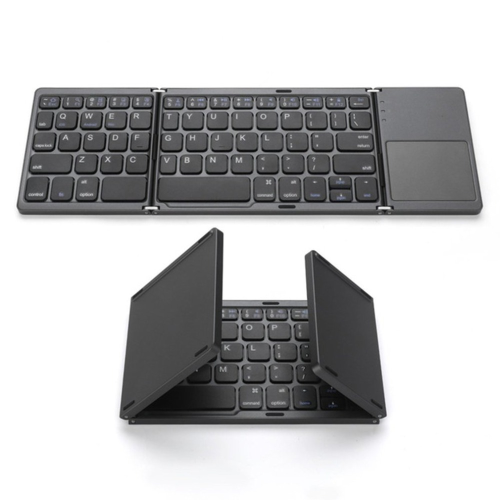 Ultra Thin Mini Bluetooth 3.0 Foldable Wireless Keyboard Keypad with Touchpad Universal For Bluetooth Tablet PC Laptop Phone