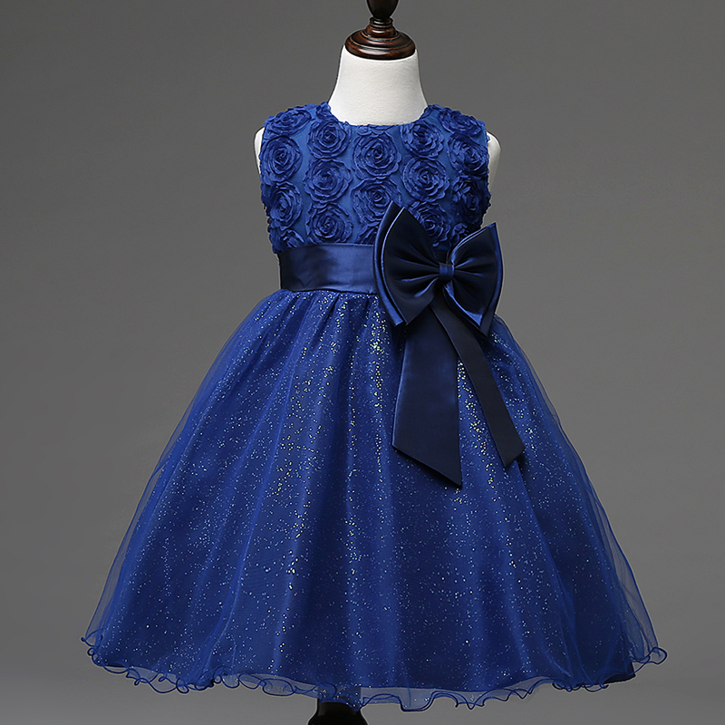 ᑐ7 Colors Girls 2017 Hot Sale new Design Dress Rose Flower Lace ...