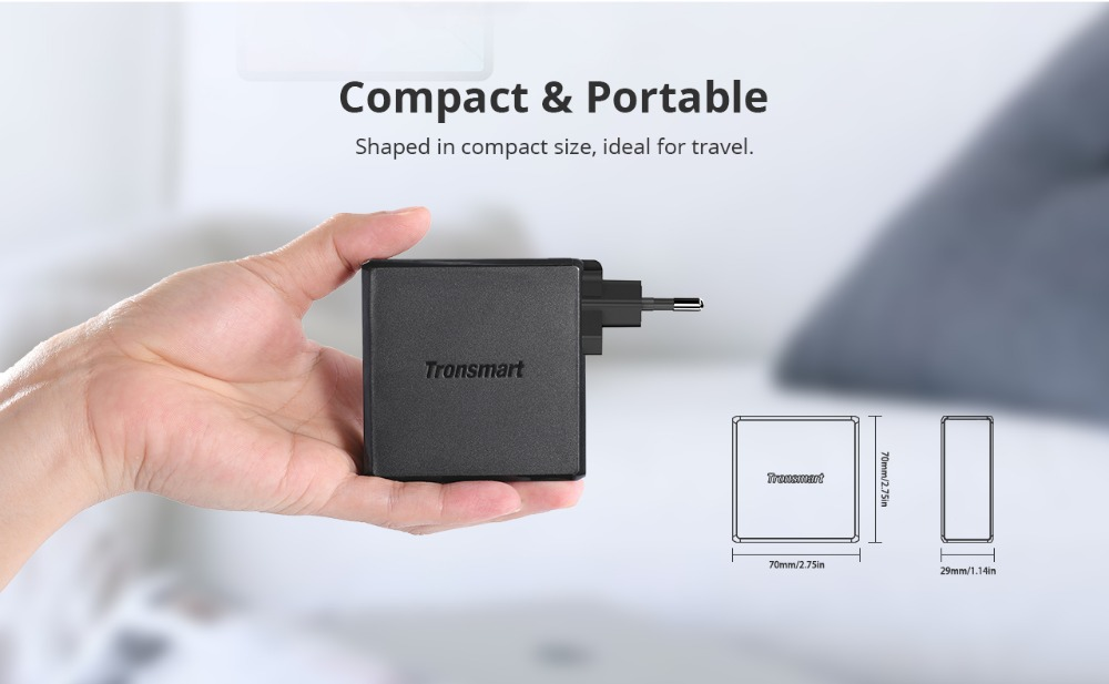 Tronsmart WCP01 60W Type C Wall Charger Power Delivery 3.0 Fast Charger Quick Charge 3.0 Phone Charger MacBook Laptop Charger08