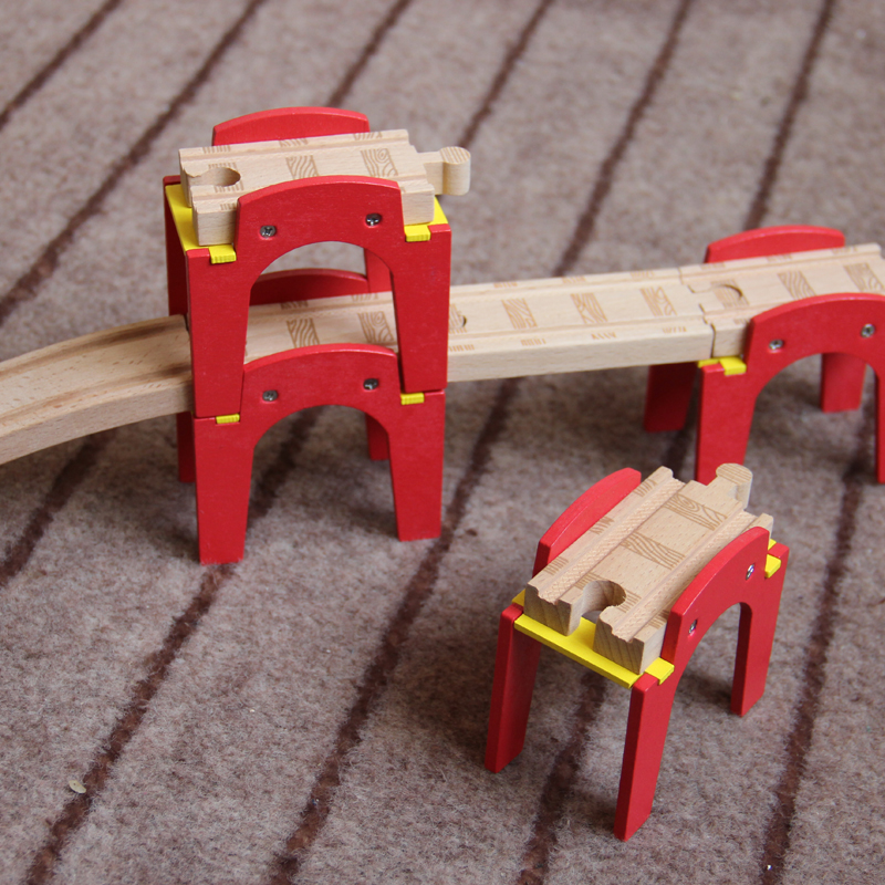 TTC52 N-BRIDGE Wooden Track Toy Train Scene Track Accessories BRIO Toy Car Truck Locomotive Engine Railway Toys For Children