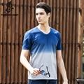 Pioneer Camp High Quality Brand Tshirt Homme V-Neck T Shirt Men Soft&Breathable  Clothing Contrast Color Slim Camiseta 655012