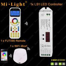 Mi.Light LS1 DC12V 24V 15A 4 in 1 Smart LED Controller for Single Color, CCT, RGB RGBW Strip + 2.4GHz Remote FUT090 + WiFi iBox1