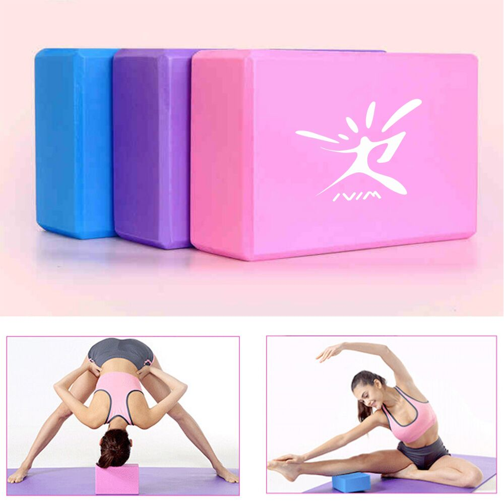1PCS Pilates EVA Yoga Block Brick Sports Exercise Gym Foam Workout Stretching Aid Body Shaping Health Training Fitness Equipment