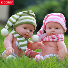 30cm Baby Dolls Newborn Reborn Doll Baby Simulation Soft Vinyl Dolls Children Kindergarten Lifelike Toys for Girls Birthday Gift hot sale 22 reborn dolls lifelike handmade vinyl baby newborn dolls with clothes girls gift bedtime early education toys