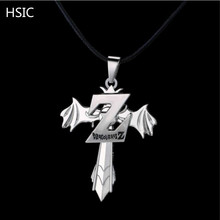 HSIC 10pcs/lot Cartoon Dragonball Isaiah Z Logo Necklace Foreign Trade can Rotate Pendant Birthday Surprise Gifts for Men