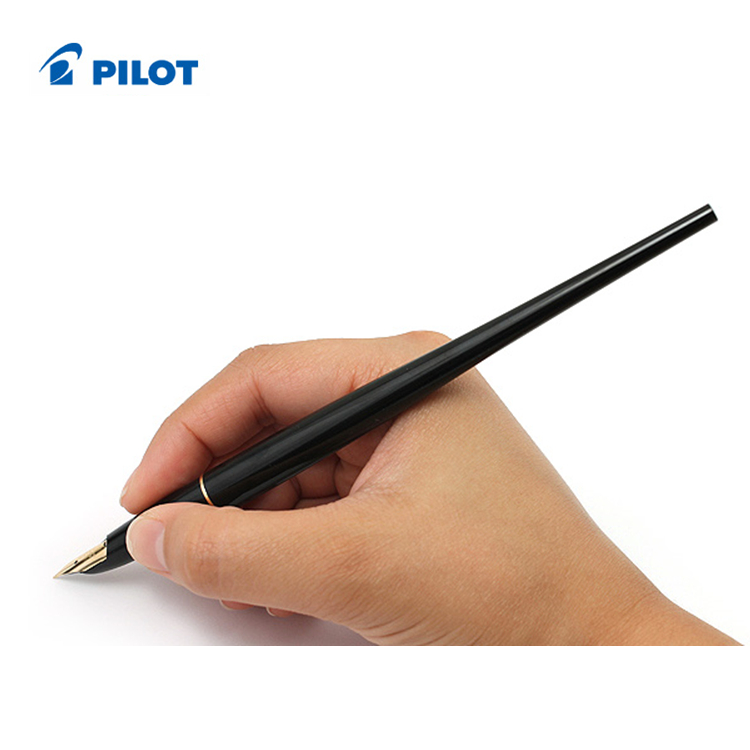 Pilot Desk Fountain Pen - DPN-70 - Extra Fine Nib/Fine Nib/Medium Nib - Black Body/Red Body Writing Supplies italic nib art fountain pen arabic calligraphy black pen line width 1 1mm to 3 0mm