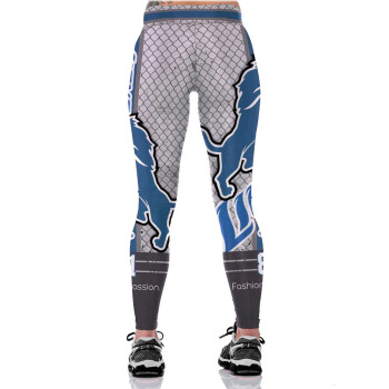 Unisex Football Team Lions 81 Print Tight Pants Workout Gym Training Running Yoga Sport Fitness Exercise Leggings Dropshipping 1