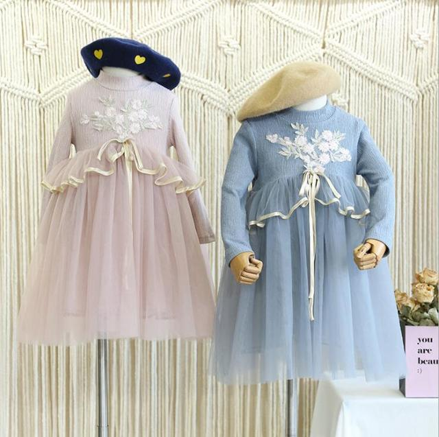 2b7713009 New Fall Baby Kids Boutique Fairy Lace Mesh Dresses