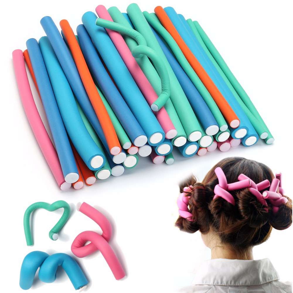0.8cm-2.0cm Size 10pcs/Bag Sale Rubber Sticks Get Heatless Soft Curls Overnight Get Perfect Flexirod Results On Natural Hair