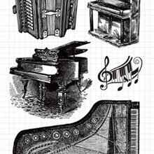 KSCRAFT музыкальный инструмент прозрачный чистый силикон марки для DIY Скрапбукинг/карты/Дети ремесла изделия для декорации M15