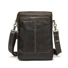 2017 HOT SALE Shoulder Bag Men Trendy Fashion Casual Small Bag Vertical Type Work Bag Top Layer Cowhide Designer Shoulder Bag цена