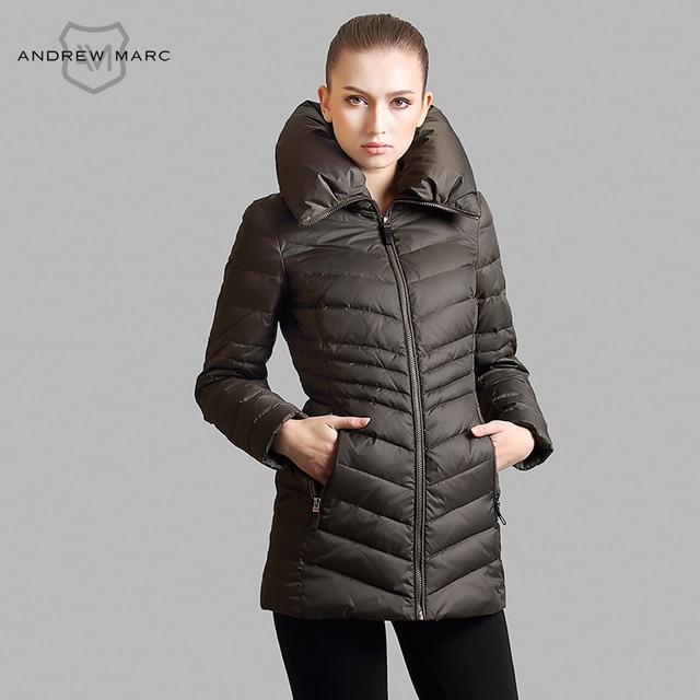 d93f9cd5855 ANDREW MARC 2016 New Winter Coat Women Jacket Fashion Collar Design  Standard Ladies Down   Parkas S M L XL TW4AD411