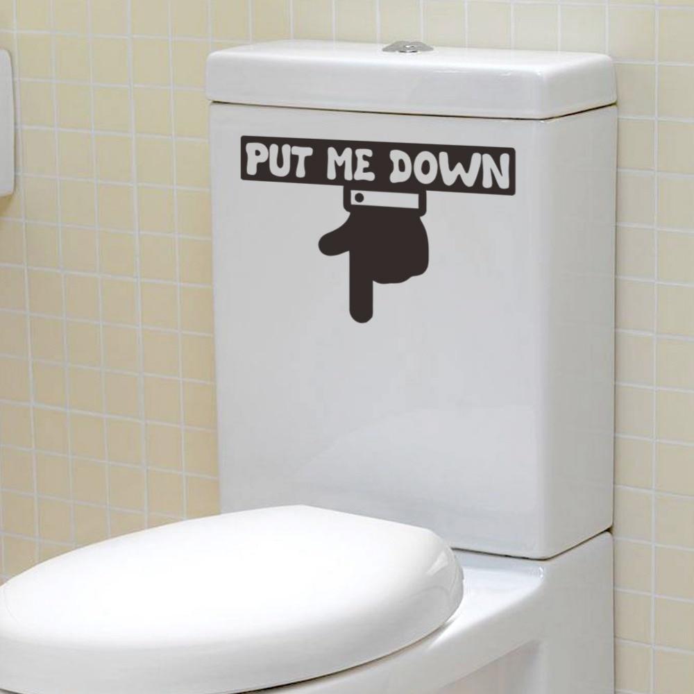 Aliexpress.com : Buy % PUT ME DOWN finger Bathroom waterproof ...