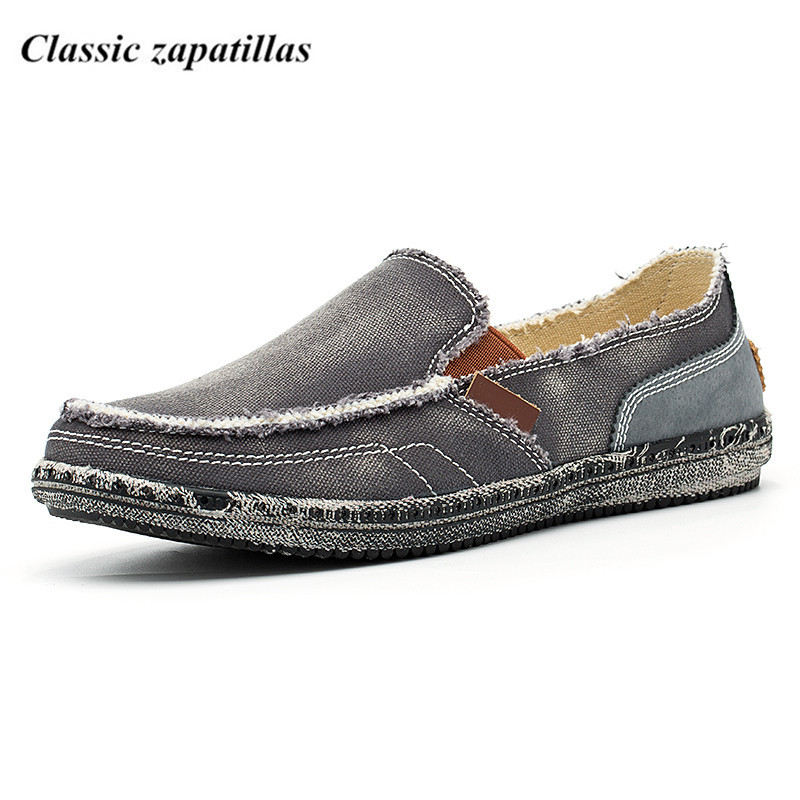 Classic zapatillas Spring Men Shoes Men Flats Canvas Shoes Breathable Casual Shoes Loafers Men Fashion Summer Style new 2017 spring summer men shoes fashion breathable denim shoes slip on mens casual shoes men flats zapatillas con luces