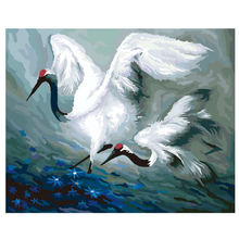 RIHE Crane Flying DIY Oil Painting By Numbers Animal Paint On Canvas Wall Pictures For Living Room Art Home Decor 16x20inch