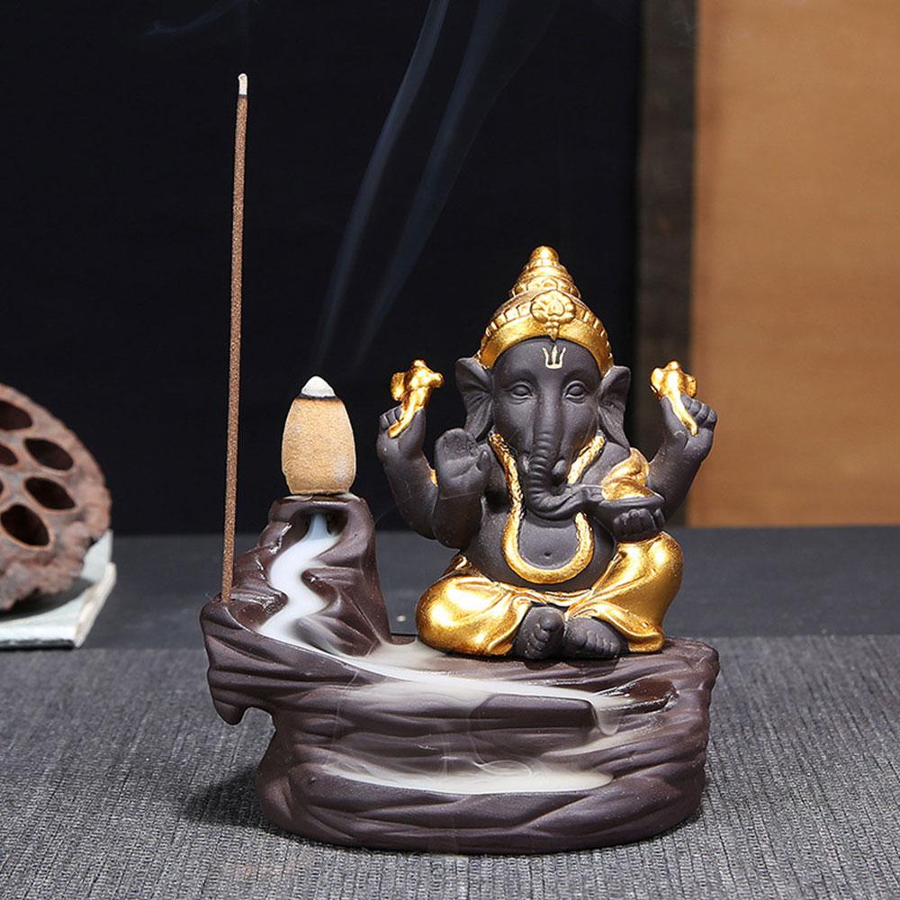 Фиолетовый; песок слон помощь для сна Ароматизированная горелка для благовоний с обратным потоком кадильница, ароматическая терапия диффузор благовония курильница ретро
