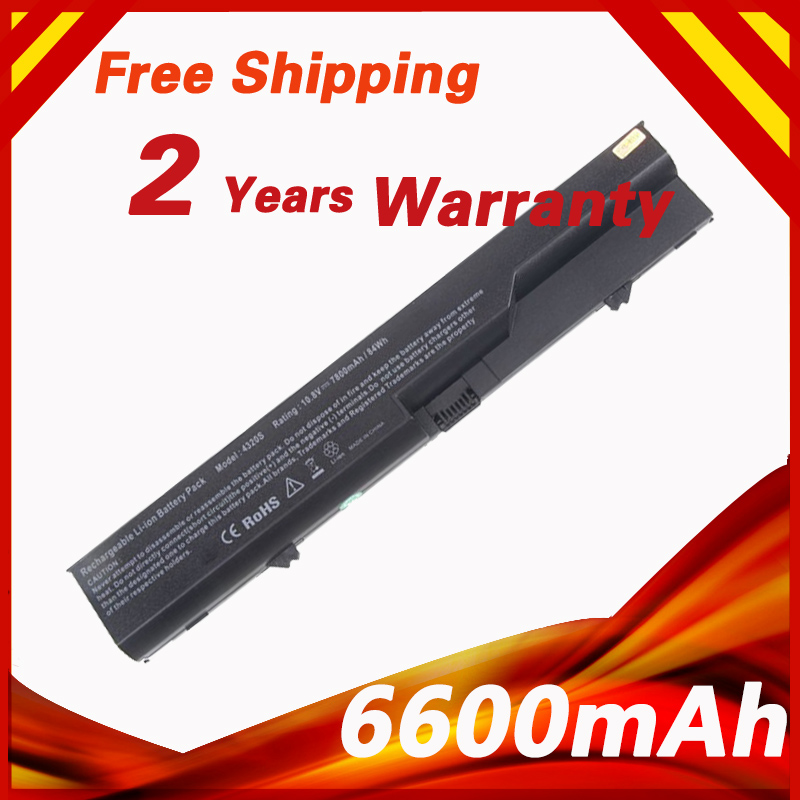 6600mAh 9 Cells Laptop Battery For HP ProBook 4320 4325s 4320s 4321 525s 4321s 4520s 4320t 4326s 4420s 4421s 4425s 4520 620 625 аккумуляторная батарея topon top 4320 4800мач для ноутбуков hp 425 4320t 625 probook 4320s 4321s 432