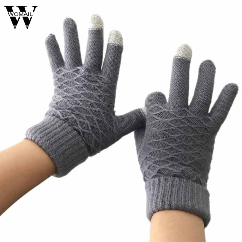 Men's Arm Warmers Winter Gloves Cute Fun Cute Thicken Stitching Hot Girls Boys Of Winter Warm Straps Gloves 9.11 Cheapest Price From Our Site