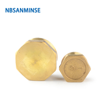 NBSANMINSE 10pcs/lot SM1016-F 1/2 1-1/2 Brass Male End Cap For Water Heating Fitting