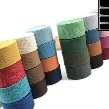 Парусиновая лента Полиэфирная хлопчатобумажная тканая лента шириной 5 м 30 мм, ремешок для швейных сумок, Аксессуары для ремней