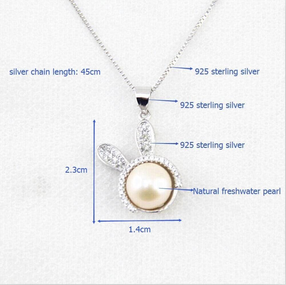 01f005efb690 Diseño de Moda 100% natural colgante de plata esterlina colgante 8-9mm  mujer clásico AAA perlas de agua dulce colgante