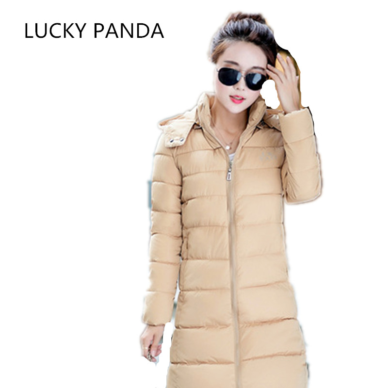 LUCKY PANDA 2016 WOMAN ladies winter feather padded size self-cultivation in the long thick coat jacket LKB200 tea cultivation in nepal