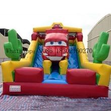 PVC slide Commercial inflatable slides bouncer with inflatable slide  for kids slide promotional commercial pvc inflatable dry slide for children